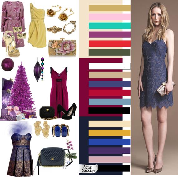 Цветовая гамма вечернего стиля одежды