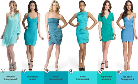 Платья бирюзового цвета