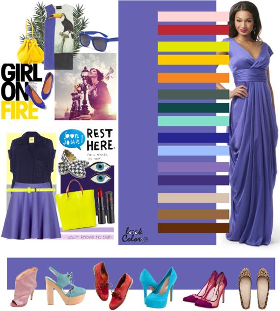Сине-сереневый цвет