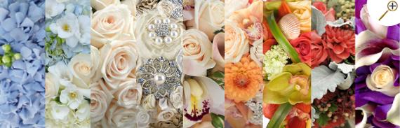 Свадебные букеты фото, сочетание с цветом айвори