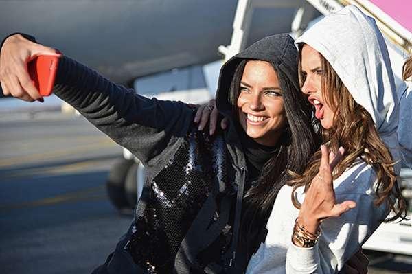 """""""Ангелы"""" Victoria's Secret  вылетели в Лондон 6"""