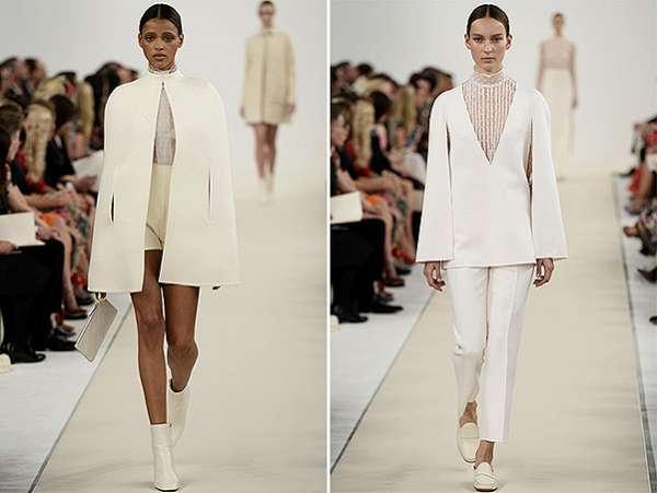 Белым по белому: показ коллекции Valentino в Нью-Йорке 5