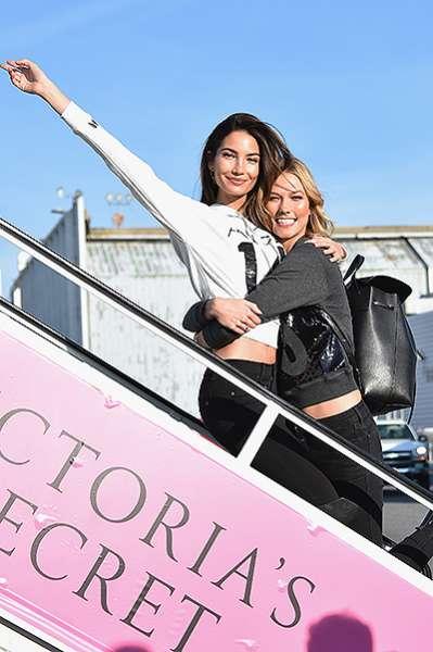 """""""Ангелы"""" Victoria's Secret  вылетели в Лондон 10"""
