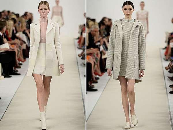 Белым по белому: показ коллекции Valentino в Нью-Йорке 6