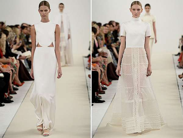 Белым по белому: показ коллекции Valentino в Нью-Йорке 7