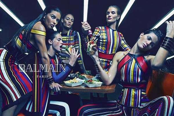 Фаст-фуд и видеоигры: топ-модели в рекламной кампании Balmain 12