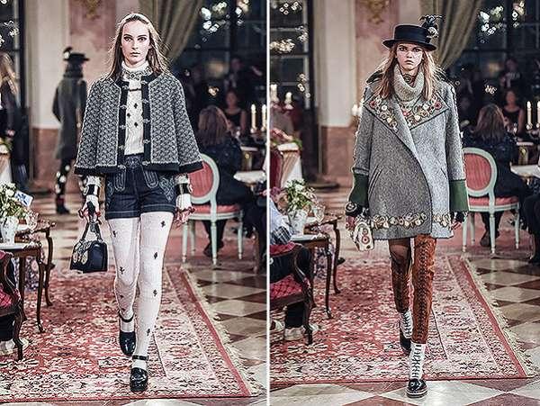 Кара Дельвинь и Кендалл Дженнер на показе Chanel в Зальцбурге 5