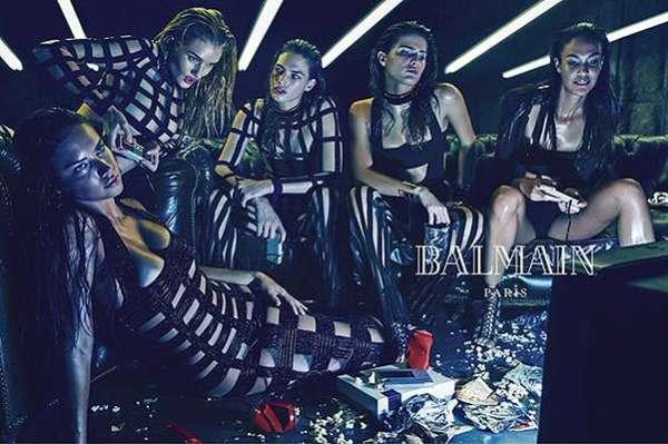 Фаст-фуд и видеоигры: топ-модели в рекламной кампании Balmain 2