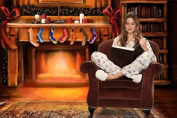 """Ночь перед Рождеством: """"ангелы"""" Victoria's Secret прочитали сказку в новом видео 5"""