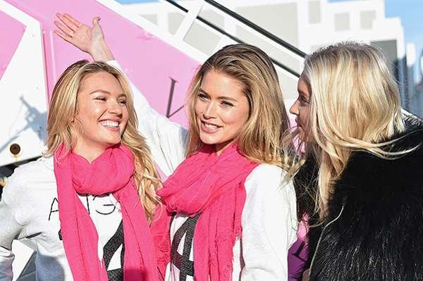 """""""Ангелы"""" Victoria's Secret  вылетели в Лондон 9"""