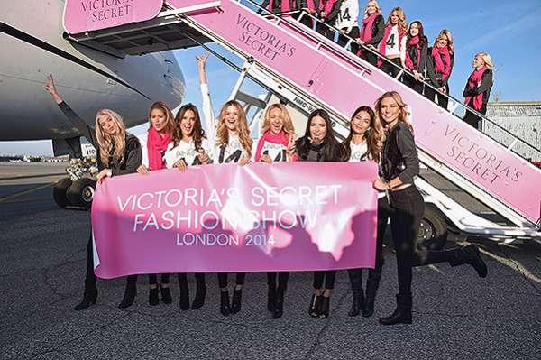 """""""Ангелы"""" Victoria's Secret  вылетели в Лондон 14"""