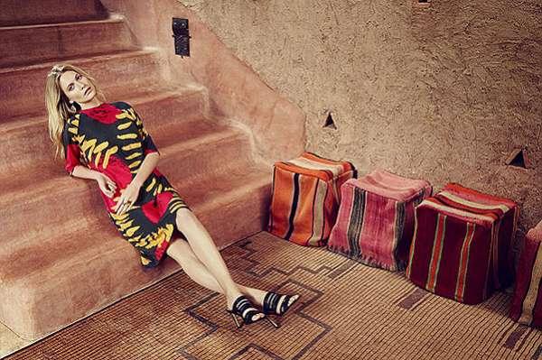 Поппи Дельвинь в рекламной кампании британского бренда 5