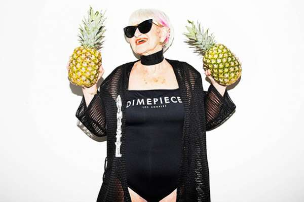 Интернет-сенсация: 86-летняя Бадди Винкл в рекламной кампании бренда Dimepiece 23