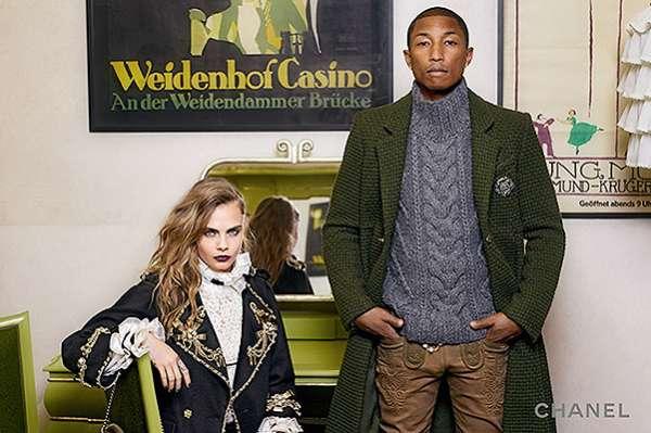 Кара Дельвинь и Фарелл Уилльямс в новой рекламной кампании Chanel 11