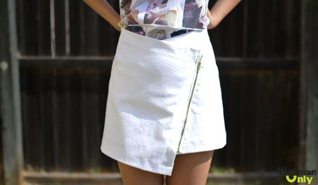Модная юбка с запахом: мастер-класс с фото