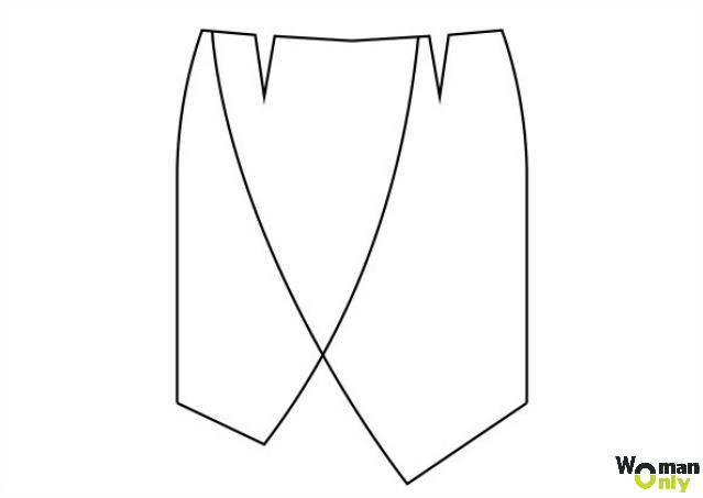 Юбка оригами моделируем выкройку