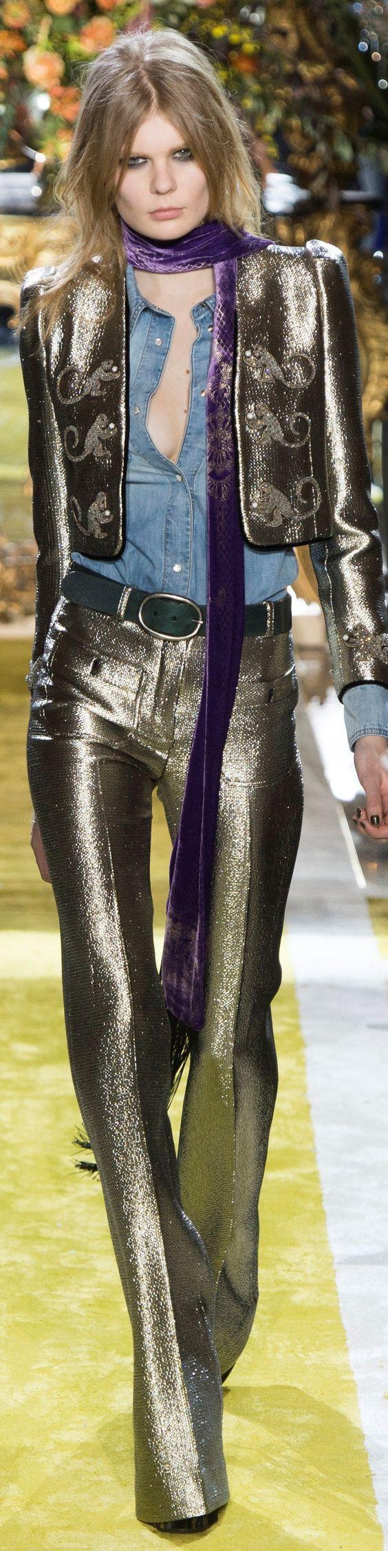 модные брюки с эффектом металлик