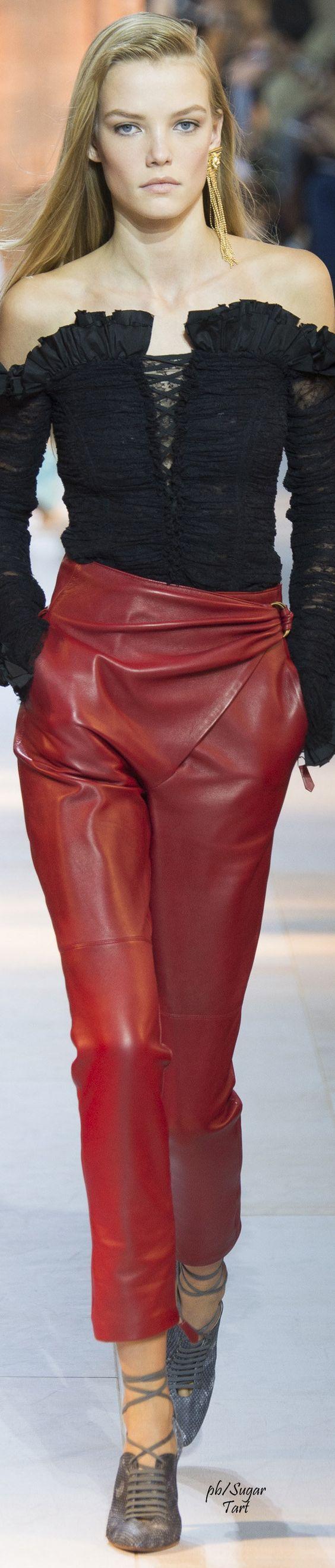 модные кожаные брюки 2017