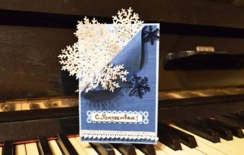 Рождественская открытка своими руками – интересные решения. Как быстро сделать рождественскую открытку своими руками 5