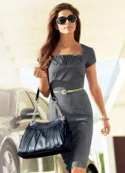 Летние офисные платья 10