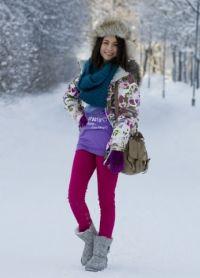 зимние образы девушек 7