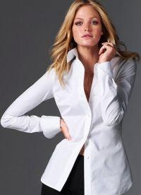красивые белые блузки 1