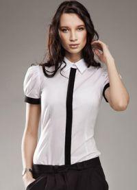 красивые белые блузки 2