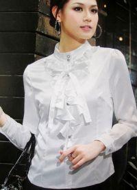 красивые белые блузки 3