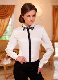 красивые белые блузки 4