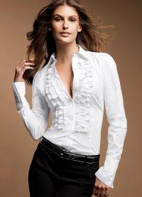 красивые белые блузки 5