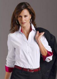 красивые белые блузки 6