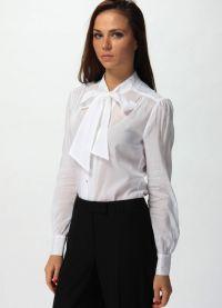 красивые белые блузки 7