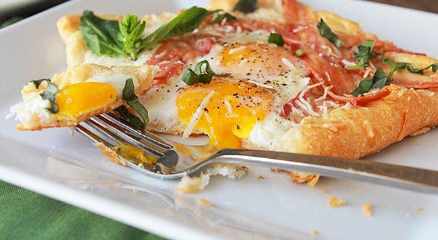 Открытые слойки к завтраку