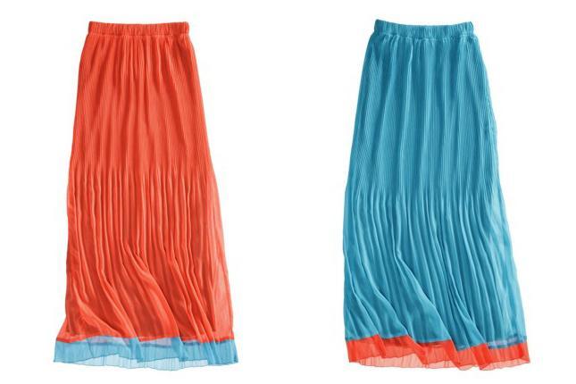 плиссированная юбка в пол