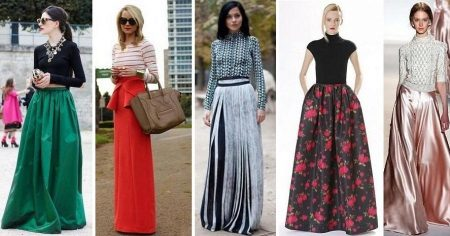 Модные длинные юбки 17