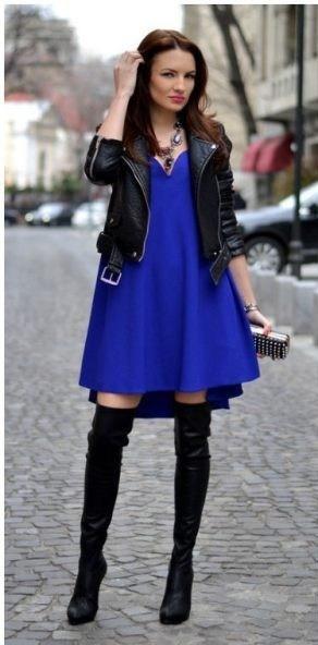 сапоги чулки с платьем