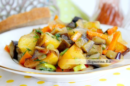 Овощное рагу с баклажанами и кабачками 7