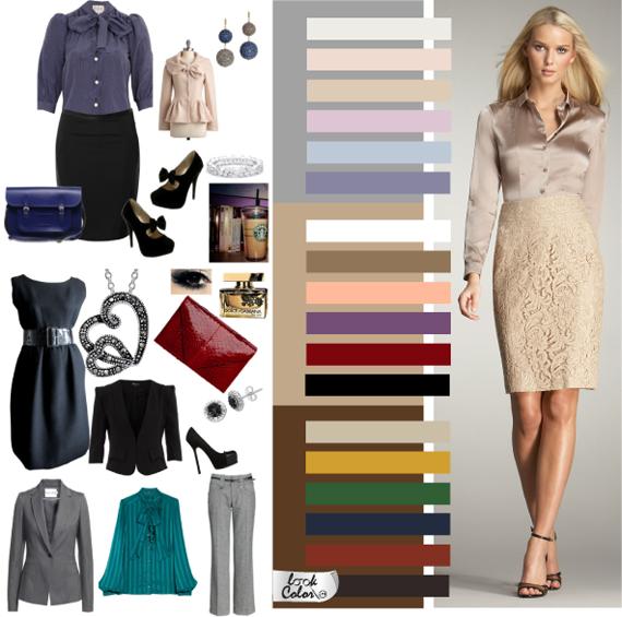 Цветовая гамма классического стиля одежды