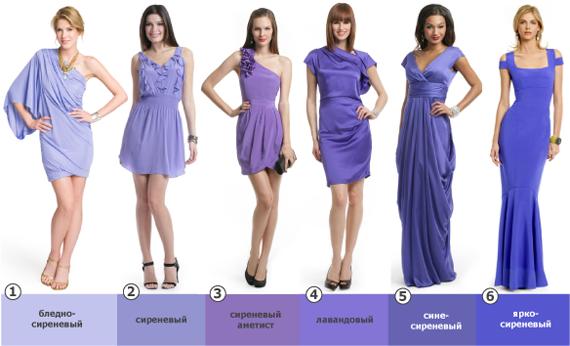 Платья сиреневого цвета фото