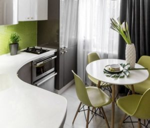 интерьер маленькой кухни - 2